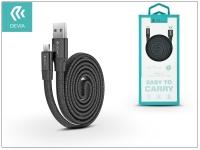 USB   micro USB adat  és töltőkábel 80 cm es vezetékkel   Devia Ring Y1 Cable for Android 2 4   black eladó
