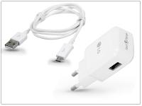 LG gyári USB hálózati töltő adapter  +  micro USB adatkábel   5V 1 8A   MCS 05ER Fast Charge  +  EAD62329305 white (ECO csomagolás) eladó