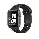 Apple Watch Series 3 Nike +  Antracit Plastic Sportband Fekete 38mm eladó