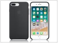 Apple iPhone 7 Plus iPhone 8 Plus eredeti gyári szilikon hátlap   MQGW2ZM A   black eladó