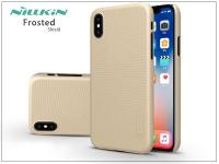 Apple iPhone X hátlap képernyővédő fóliával   Nillkin Frosted Shield   gold eladó