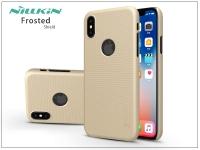 Apple iPhone X hátlap képernyővédő fóliával   Nillkin Frosted Shield Logo   gold eladó