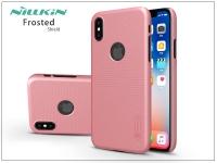 Apple iPhone X hátlap képernyővédő fóliával   Nillkin Frosted Shield Logo   rose gold eladó
