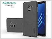 Samsung A730F Galaxy A8 Plus (2018) hátlap képernyővédő fóliával   Nillkin Frosted Shield   fekete eladó