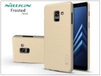 Samsung A730F Galaxy A8 Plus (2018) hátlap képernyővédő fóliával   Nillkin Frosted Shield   gold eladó