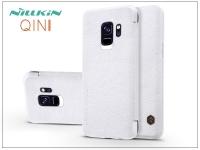 Samsung G960F Galaxy S9 oldalra nyíló flipes tok   Nillkin Qin   fehér eladó