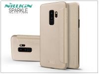 Samsung G965F Galaxy S9 Plus oldalra nyíló flipes tok   Nillkin Sparkle   gold eladó
