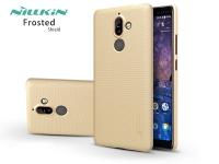 Nokia 7 Plus (2018) hátlap képernyővédő fóliával   Nillkin Frosted Shield   gold eladó