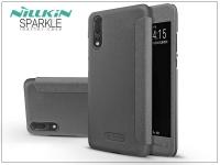 Huawei P20 oldalra nyíló flipes tok   Nillkin Sparkle   fekete eladó