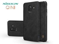 Samsung A600F Galaxy A6 (2018) oldalra nyíló flipes tok   Nillkin Qin   fekete eladó