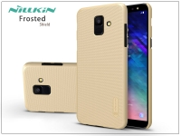 Samsung A600F Galaxy A6 (2018) hátlap képernyővédő fóliával   Nillkin Frosted Shield   gold eladó