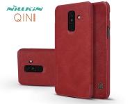 Samsung A605 Galaxy A6 Plus (2018) oldalra nyíló flipes tok   Nillkin Qin   piros eladó
