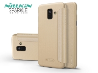 Samsung A600F Galaxy A6 (2018) oldalra nyíló flipes tok   Nillkin Sparkle   gold eladó