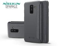 Samsung A605 Galaxy A6 Plus (2018) oldalra nyíló flipes tok   Nillkin Sparkle   fekete eladó