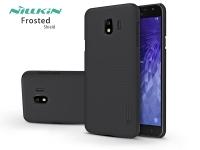 Samsung J400F Galaxy J4 (2018) hátlap képernyővédő fóliával   Nillkin Frosted Shield   fekete eladó
