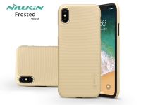 Apple iPhone XS Max hátlap   Nillkin Frosted Shield   gold eladó