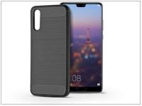 Huawei P20 szilikon hátlap   Carbon   fekete eladó