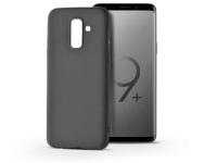 Samsung G965F Galaxy S9 Plus szilikon hátlap   Soft   fekete eladó