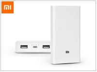 Univerzális hordozható  asztali akkumulátor töltő   Xiaomi Mi Power Bank QC 3 0   20 000 mAh   fehér eladó