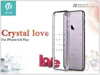 Apple iPhone 6 6S hátlap Swarovski kristály díszitéssel   Devia Crystal Love   gun black eladó