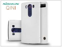 LG V10 H960A oldalra nyíló flipes tok   Nillkin Qin   fehér eladó