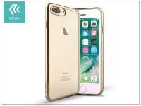 Apple iPhone 7 Plus iPhone 8 Plus szilikon hátlap   Devia Glitter Soft   champagne gold eladó