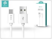 USB   USB Type C adat  és töltőkábel 1 m es vezetékkel   Devia Smart USB Type C 2 0 Cable   white eladó