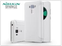 Asus Zenfone 3 Laser (ZC551KL) oldalra nyíló flipes tok   Nillkin Sparkle   fehér eladó