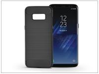 Samsung G950F Galaxy S8 szilikon hátlap   Carbon   fekete eladó