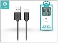 USB   USB Type C adat  és töltőkábel 1 m es vezetékkel   Devia Smart Cable for Type C 2 1   black eladó