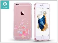 Apple iPhone 6 Plus 6S Plus hátlap kristály díszitéssel   Devia Crystal Soft Belis   clear pink eladó