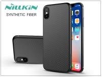 Apple iPhone X hátlap   Nillkin Synthetic Fiber   fekete eladó