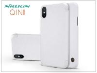 Apple iPhone X oldalra nyíló flipes tok   Nillkin Qin   fehér eladó