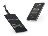 Micro USB Qi adapter vezeték nélküli töltő állomáshoz   Type B   fekete eladó