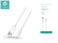 Apple iPhone 5 5S 5C SE iPad 4 iPad Mini USB töltő  és adatkábel   1 m es vezetékkel   Devia Kintone Lightning USB 1A   white eladó