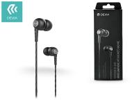 Devia univerzális sztereó felvevős fülhallgató   3 5 mm jack   Devia Kintone In Ear Wired Earphones   black eladó