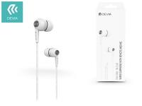 Devia univerzális sztereó felvevős fülhallgató   3 5 mm jack   Devia Kintone In Ear Wired Earphones   white eladó