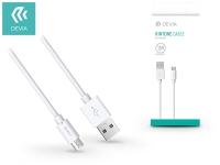USB   micro USB adat  és töltőkábel 1 m es vezetékkel   Devia Kintone Cable for Android   white eladó