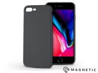 Apple iPhone 7 Plus iPhone 8 Plus szilikon hátlap beépített fémlappal   Soft Magnetic   fekete eladó