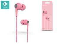Devia univerzális sztereó felvevős fülhallgató   3 5 mm jack   Devia Kintone In Ear Wired Earphones   pink eladó
