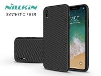 Apple iPhone XR hátlap   Nillkin Synthetic Fiber   fekete eladó