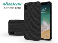 Apple iPhone XS Max hátlap   Nillkin Synthetic Fiber   fekete eladó