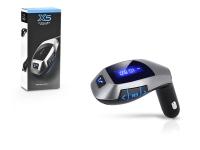 X5 FM transmitter   Bluetooth  +  USB  +  memóriakártya olvasó   fekete ezüst eladó