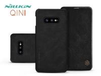 Samsung G970U Galaxy S10e oldalra nyíló flipes tok   Nillkin Qin   fekete eladó