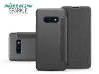 Samsung G970U Galaxy S10e oldalra nyíló flipes tok   Nillkin Sparkle   fekete eladó