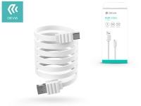 Devia USB töltő  és adatkábel 1 m es lapos vezetékkel   Devia Flat Cable Type C USB 2 0   white eladó