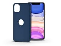 Apple iPhone 11 szilikon hátlap   Soft Logo   kék eladó