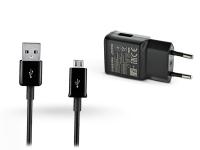 Samsung gyári USB hálózati töltő adapter  +  micro USB adatkábel   5V 2A   EP TA200EBE Adaptive Fast Chargin +  ECB DU5ABE black (ECO csomaglás) eladó