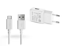 Samsung gyári USB hálózati töltő adapter  +  micro USB adatkábel   5V 2A   EP TA200EWE Adaptive Fast Chargin +  ECB DU68WE white (ECO csomaglás) eladó