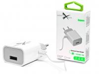 Extreme hálózati töltő Lightning kábellel  +  USB csatlakozóval   5V 2 4A   Extreme LAD0254   fehér eladó
